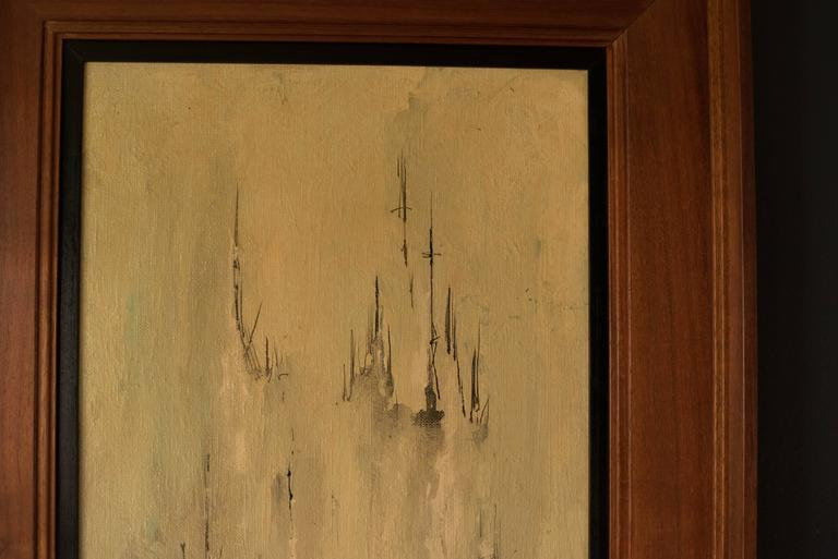 Mid Century Danny Garcia Abstract Painting In Good Condition For Sale In San Jose, CA