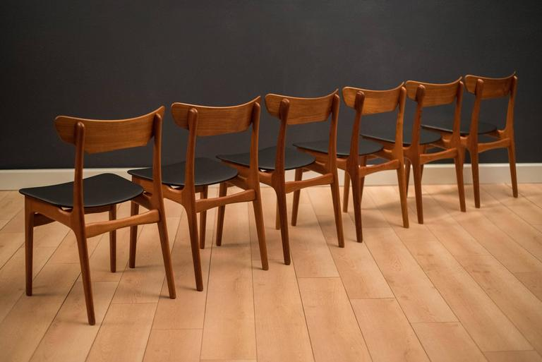 Mid-20th Century Danish Set of Schionning and Elgaard Teak Dining Chairs For Sale