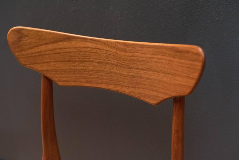 Danish Set of Schionning and Elgaard Teak Dining Chairs In Good Condition For Sale In San Jose, CA