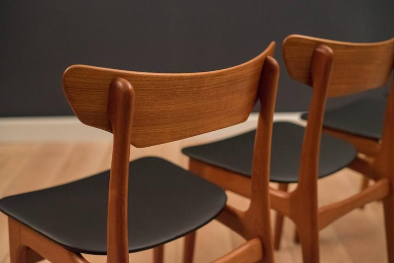 Danish Set of Schionning and Elgaard Teak Dining Chairs For Sale 1