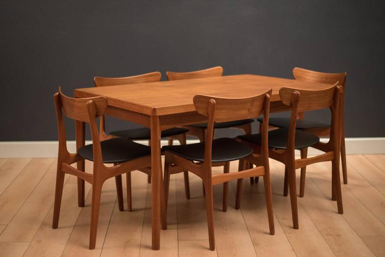 Danish Teak Dining Table by Henning Kjaernulf For Sale 1