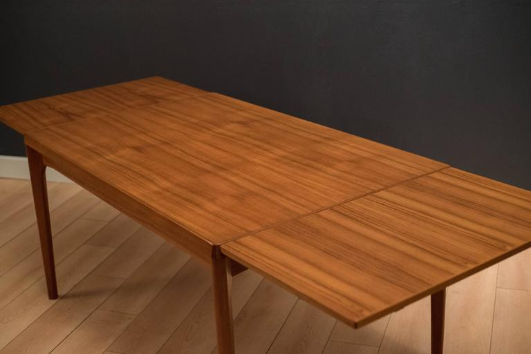 Danish Teak Dining Table by Henning Kjaernulf In Good Condition For Sale In San Jose, CA