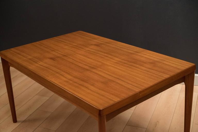 Mid-20th Century Danish Teak Dining Table by Henning Kjaernulf For Sale