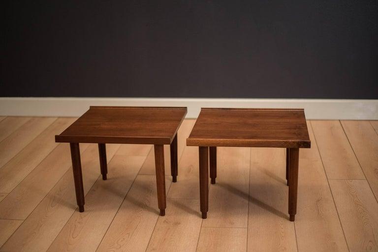 Mid-Century Modern Mid Century Walnut Side Tables by Charles Pechanec