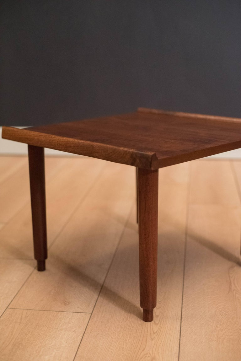 Mid Century Walnut Side Tables by Charles Pechanec In Good Condition In San Jose, CA