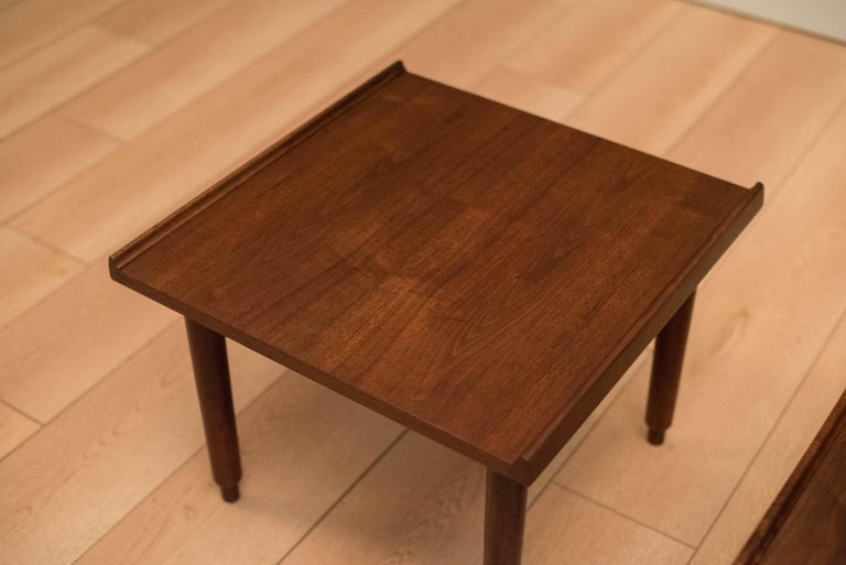 Mid Century Walnut Side Tables by Charles Pechanec 1