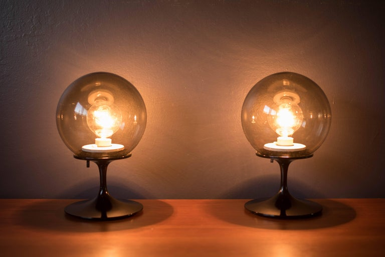 Mid-Century Modern Pair of Bill Curry Stemlite Lamps for Design Line For Sale