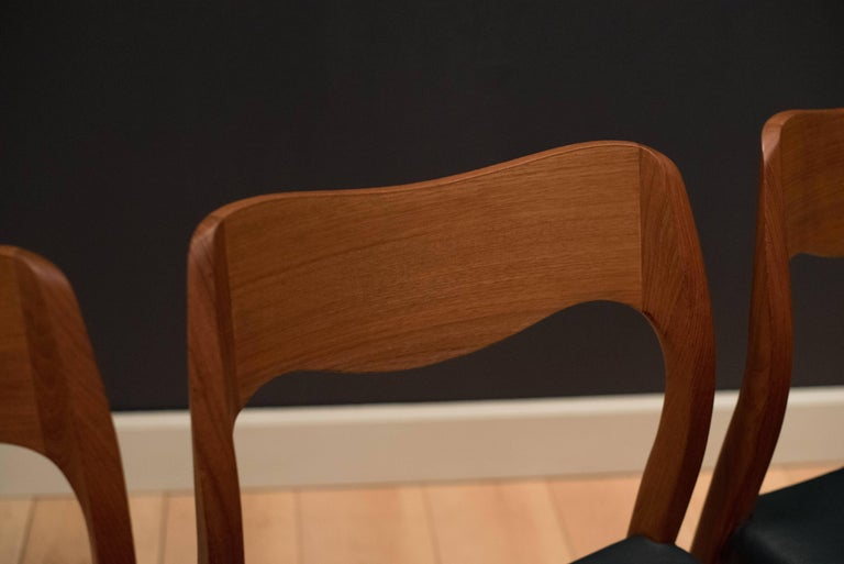 Set of Eight Danish Teak Niels Moller Dining Chairs For Sale 1