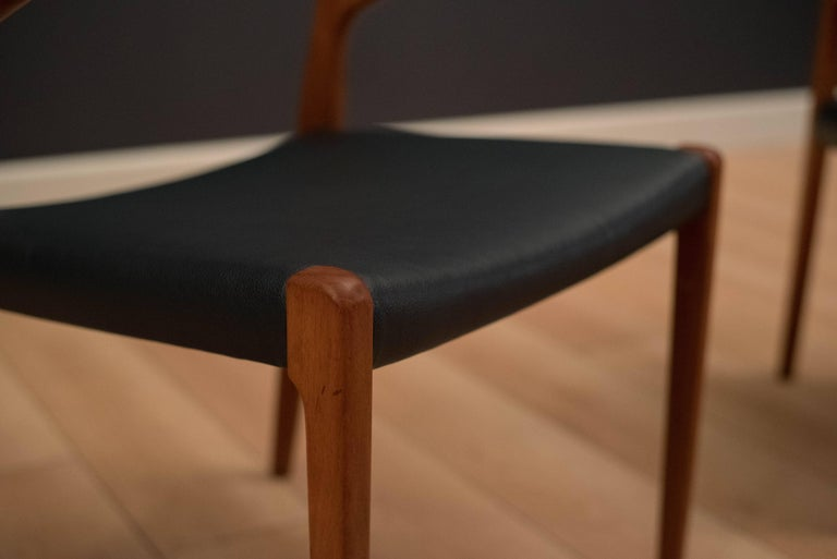 Set of Eight Danish Teak Niels Moller Dining Chairs For Sale 4