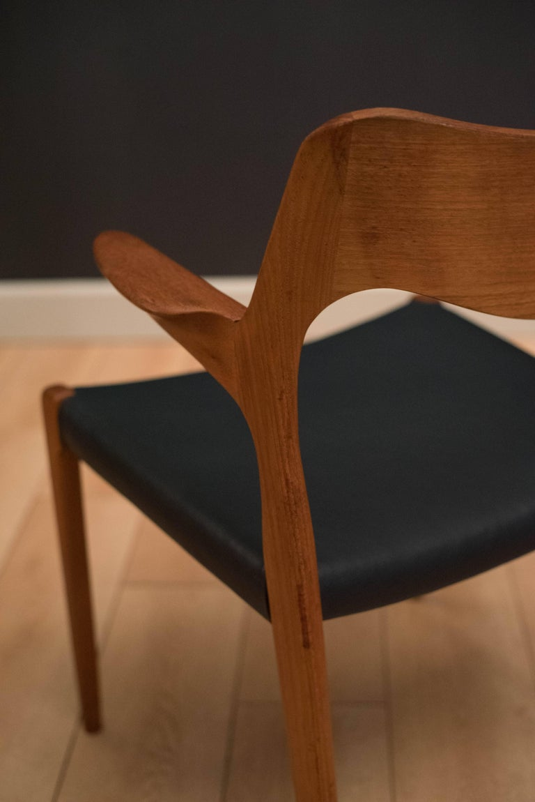 Set of Eight Danish Teak Niels Moller Dining Chairs For Sale 5