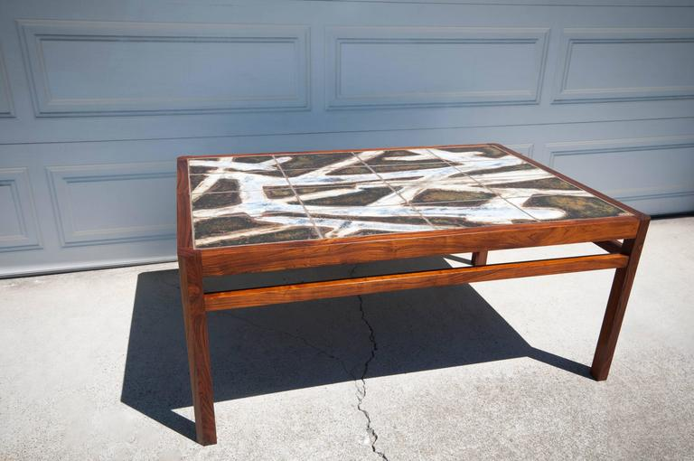 Danish Rosewood Abstract Tile Coffee Table 2