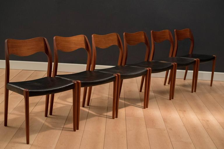niels moller 71 teak dining chairs at 1stdibs