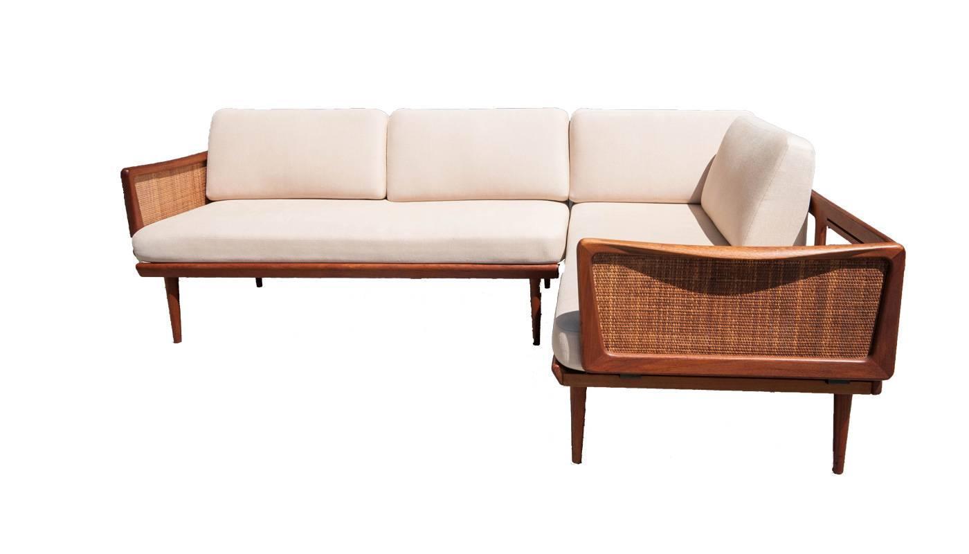 13a8571dcf5d9 Peter Hvidt and Orla Mølgaard-Nielsen Sectional Sofa with Corner Table at  1stdibs