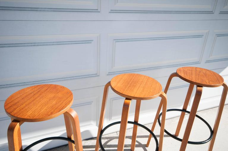 Vintage Bentwood Bar Stools At 1stdibs