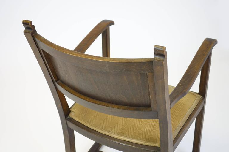 "CHAIR ""Kaminsessel"" By Adolf Loos Created For The Wiener Werkbundsiedlung Stool 3"
