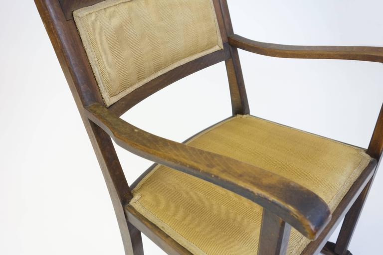 "CHAIR ""Kaminsessel"" By Adolf Loos Created For The Wiener Werkbundsiedlung Stool 5"