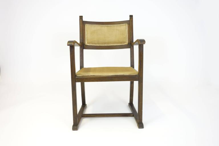 "CHAIR ""Kaminsessel"" By Adolf Loos Created For The Wiener Werkbundsiedlung Stool 7"
