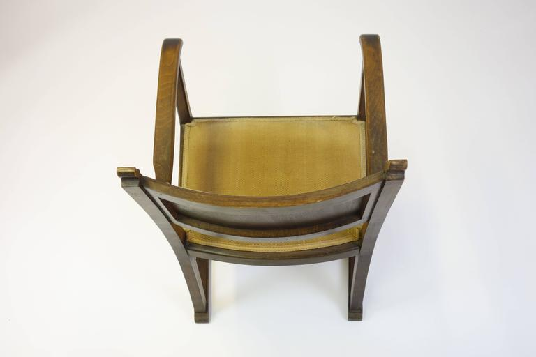 "CHAIR ""Kaminsessel"" By Adolf Loos Created For The Wiener Werkbundsiedlung Stool 8"