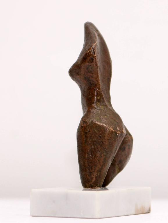 Mid-Century Modern Bronze Abstract Sculpture Nude  Torso For Sale
