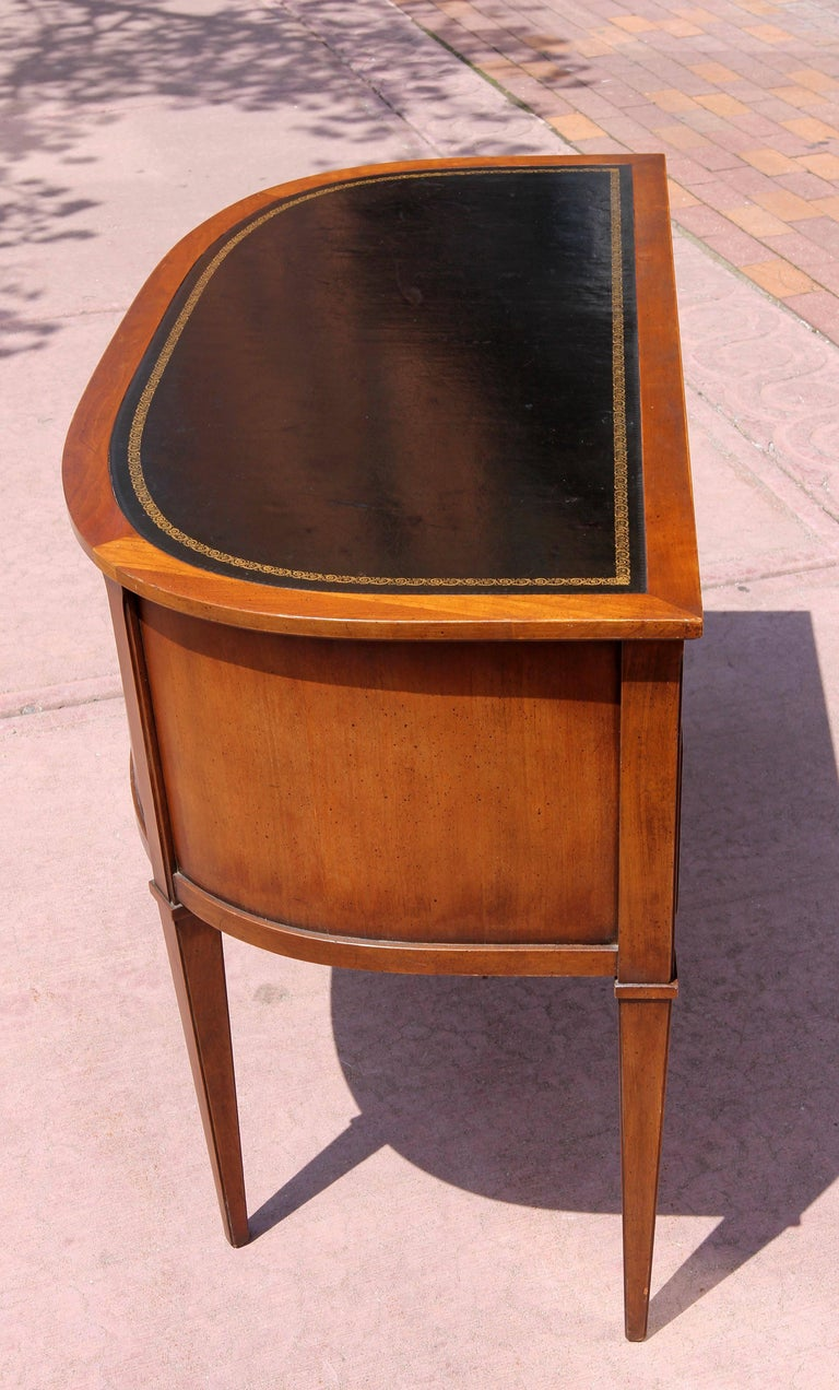 Mid-Century Modern Neoclassical Demi-Lune Desk  For Sale
