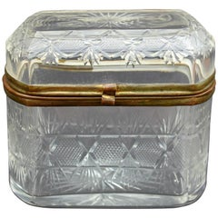 Antique Glass Trinket Box