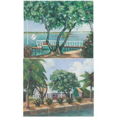 Pair of French Impressionist Oil Paintings