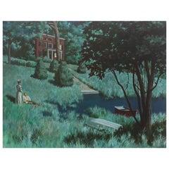 "Oil Painting ""Moonlit Evening"""