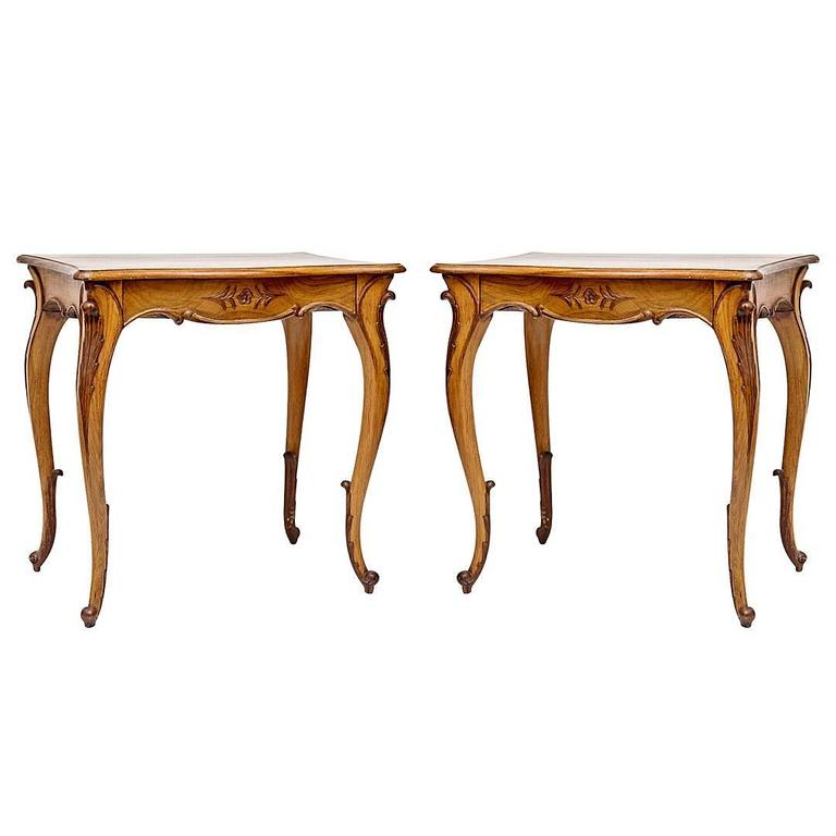 Louis Xiv Style Side Tables For