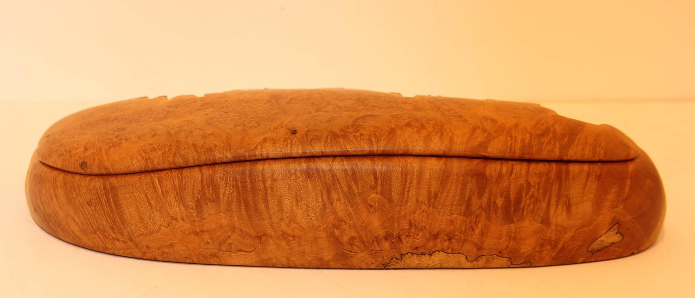 Carved maple burl dresser box at stdibs