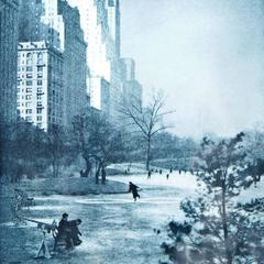 Photogravure of Central Park, New York City 1937 by Adolf Fassbender