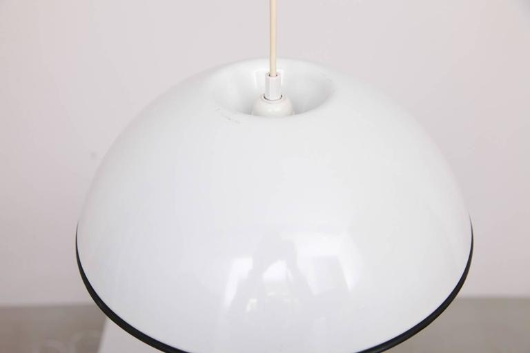 Mid-Century Modern Castiglioni Release Pendant Lamps in White for Flos, Italy, 1962 For Sale