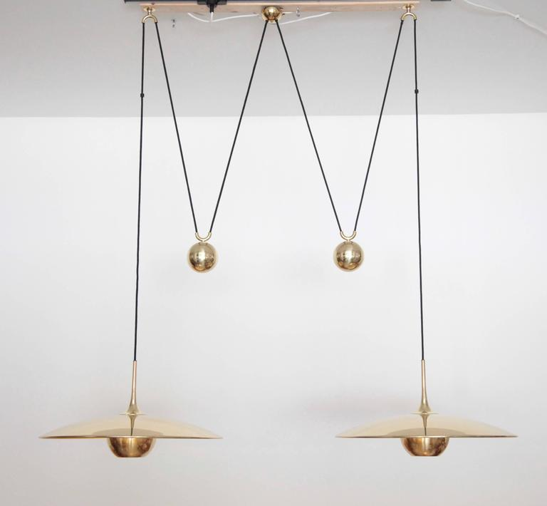 Florian Schulz Double Onos 55 Pendant Lamp with Side Counter Weights 7