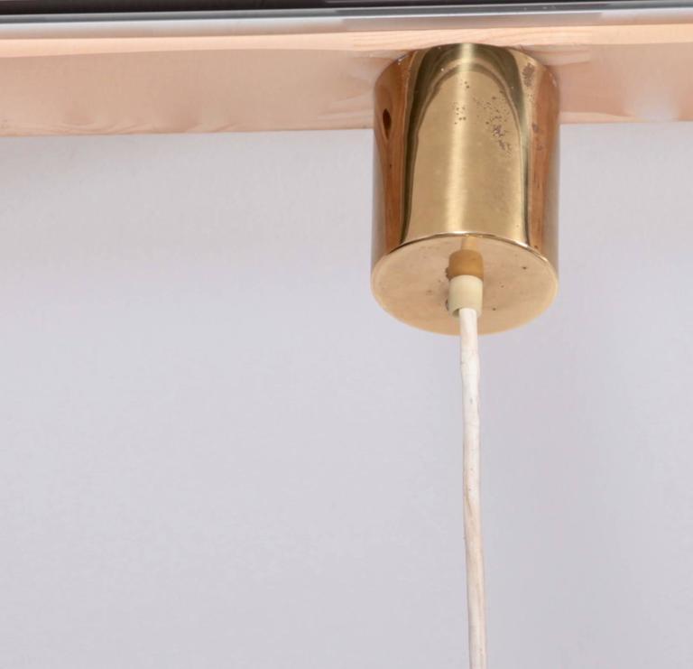 Mid-20th Century Brass Chandelier or Pendant Light by Vereinigte Werkstätten München For Sale