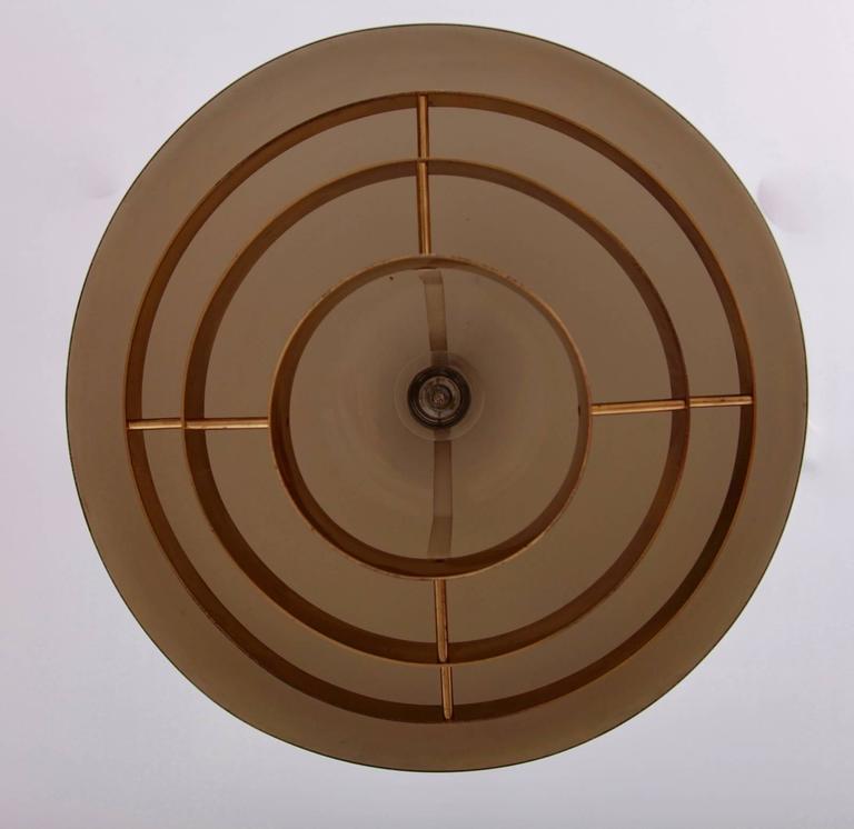 Brass Chandelier or Pendant Light by Vereinigte Werkstätten München In Excellent Condition For Sale In Berlin, DE