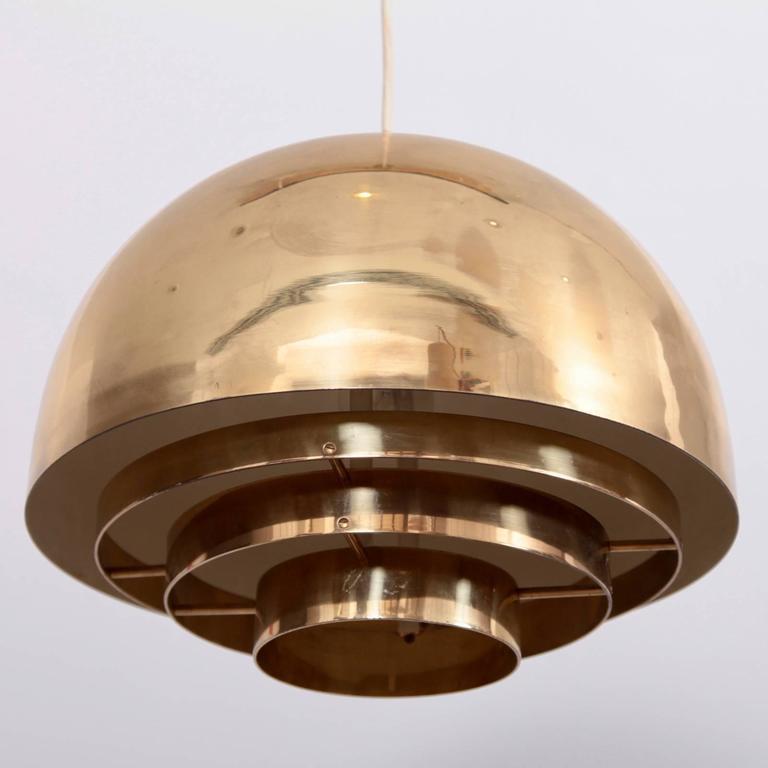 Mid-Century Modern Brass Chandelier or Pendant Light by Vereinigte Werkstätten München For Sale