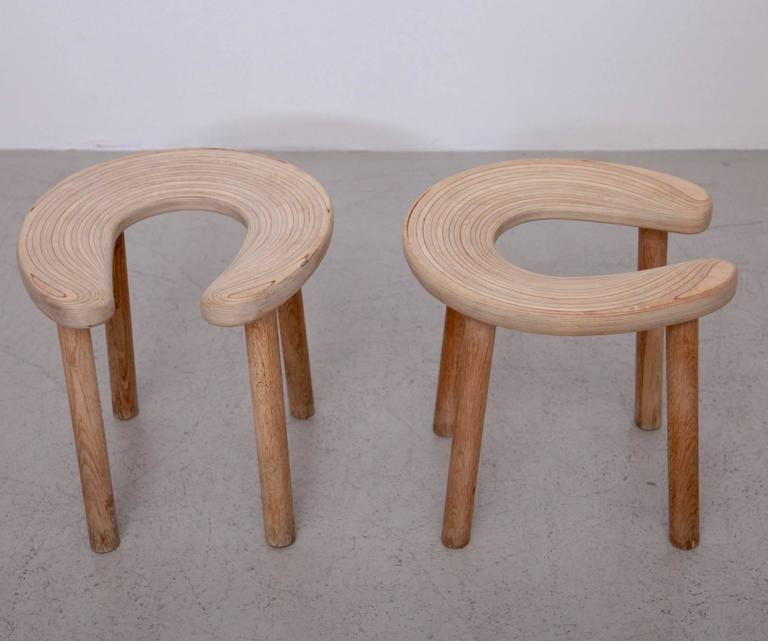 Mid-Century Modern Pair of Antti Nurmesniemi Sauna Stools for G. Soderstrom For Sale
