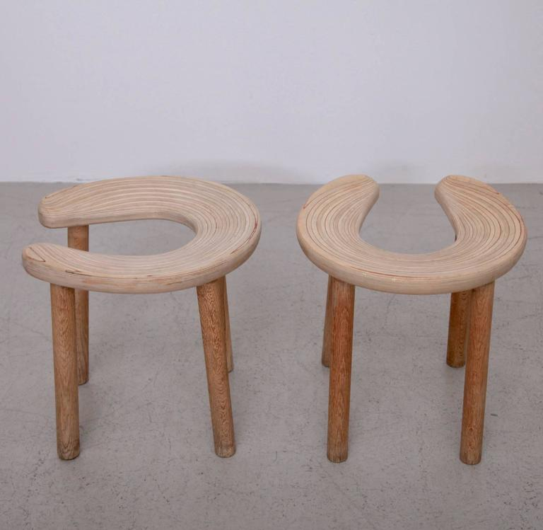 Finnish Pair of Antti Nurmesniemi Sauna Stools for G. Soderstrom For Sale