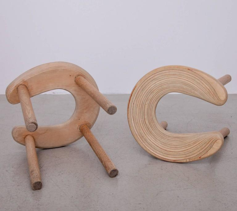 Pair of Antti Nurmesniemi Sauna Stools for G. Soderstrom In Good Condition For Sale In Berlin, DE