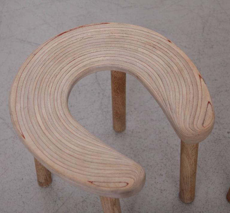 Mid-20th Century Pair of Antti Nurmesniemi Sauna Stools for G. Soderstrom For Sale