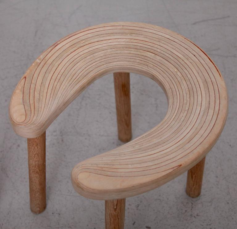 Plywood Pair of Antti Nurmesniemi Sauna Stools for G. Soderstrom For Sale