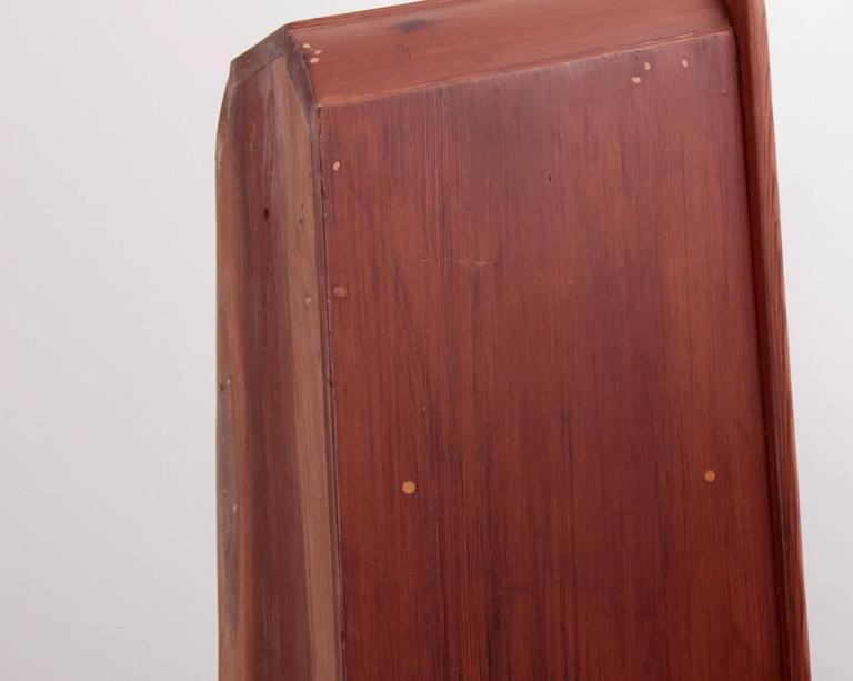 American Craftsman Affiliated Craftsman of California Studio Craft Cabinet Shelf in Solid Redwood For Sale