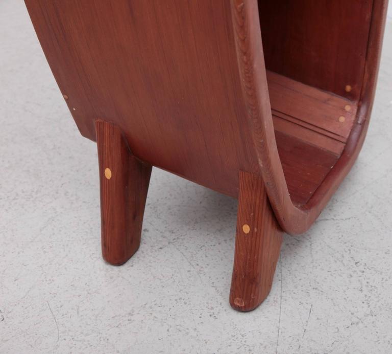 Affiliated Craftsman of California Studio Craft Cabinet Shelf in Solid Redwood In Excellent Condition For Sale In Berlin, DE