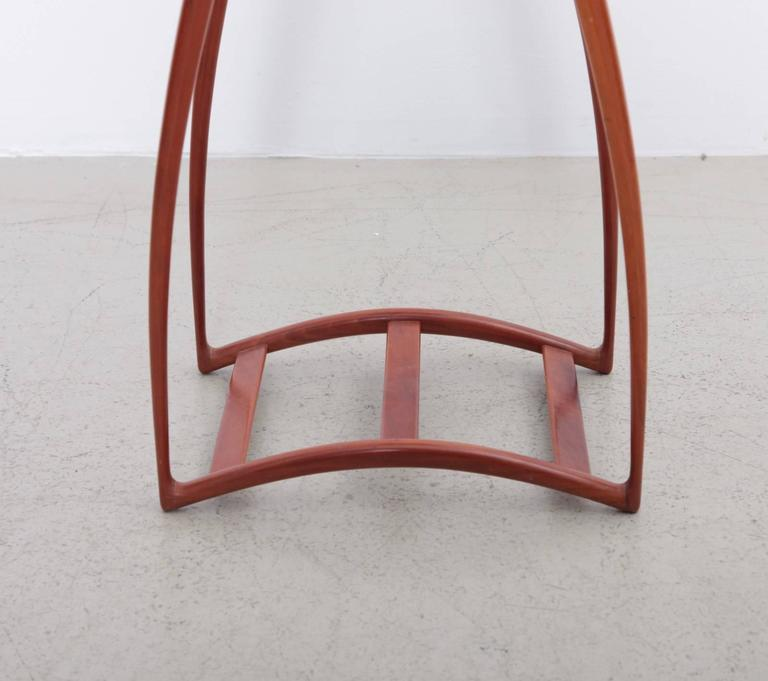 High Tables For Sale: Rare And Signed Richard Tannen Studio Craft Plant Stand Or