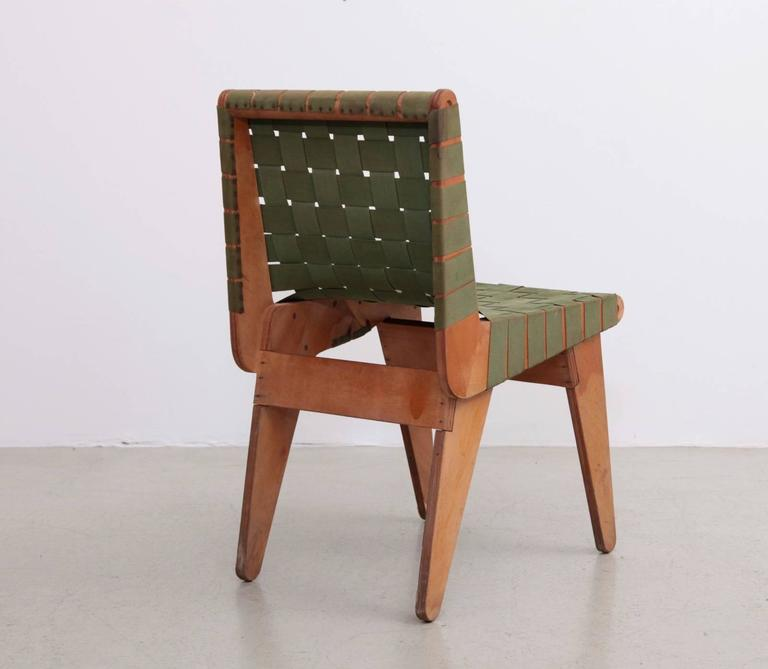Mid-Century Modern Original Green 1949 Klaus Grabe Plywood Chair For Sale