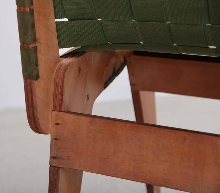 Original Green 1949 Klaus Grabe Plywood Chair For Sale 1