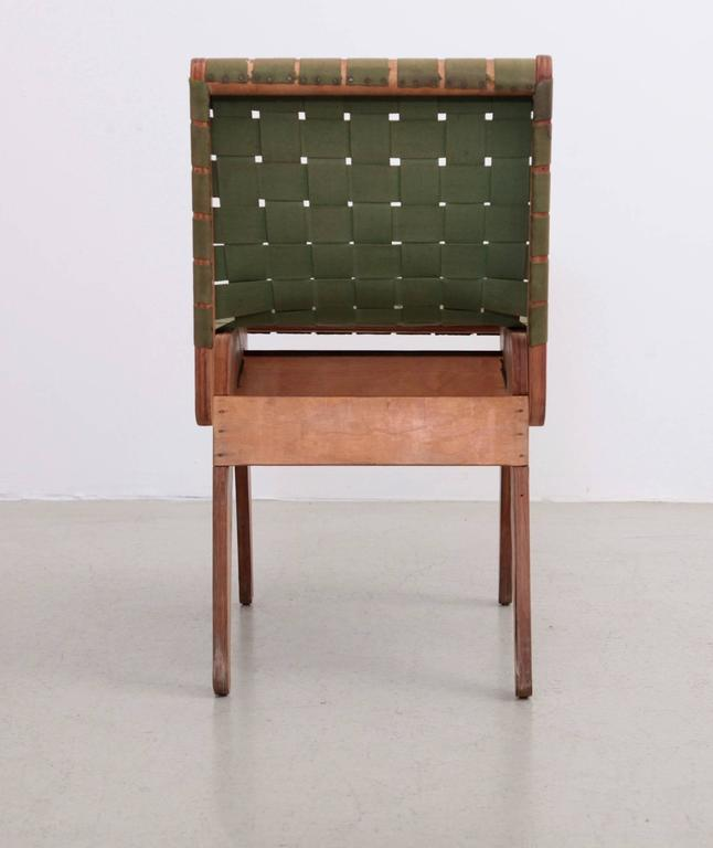 American Original Green 1949 Klaus Grabe Plywood Chair For Sale