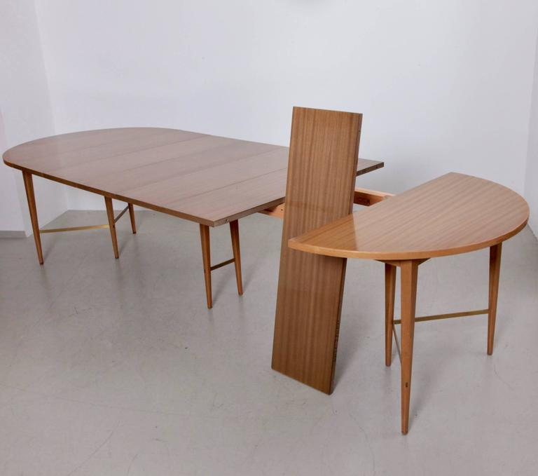 Large 10ft paul mccobb extension dining table by calvin at for Dining room table size calculator