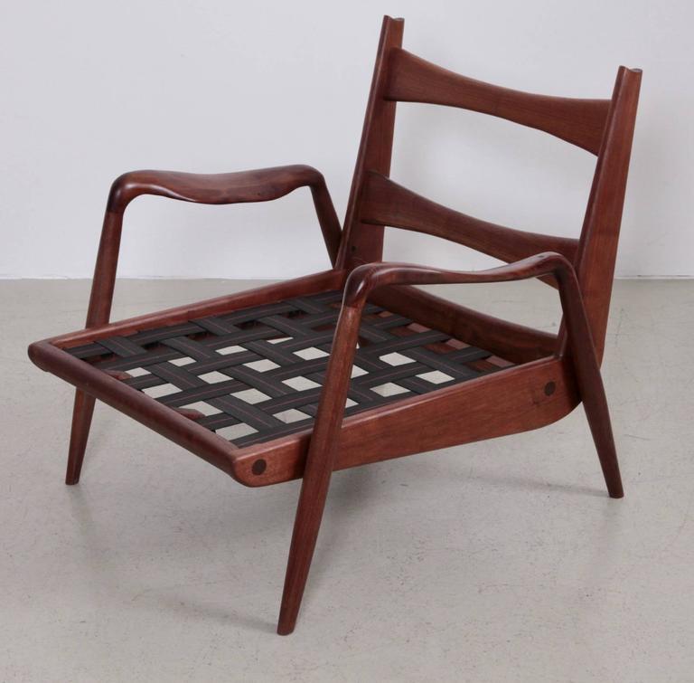 Phillip Lloyd Powell 'New Hope' Lounge Chair in Black Walnut 3