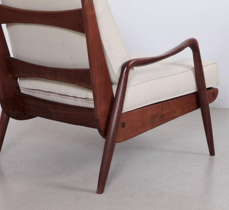 Mid-20th Century Phillip Lloyd Powell 'New Hope' Lounge Chair in Black Walnut
