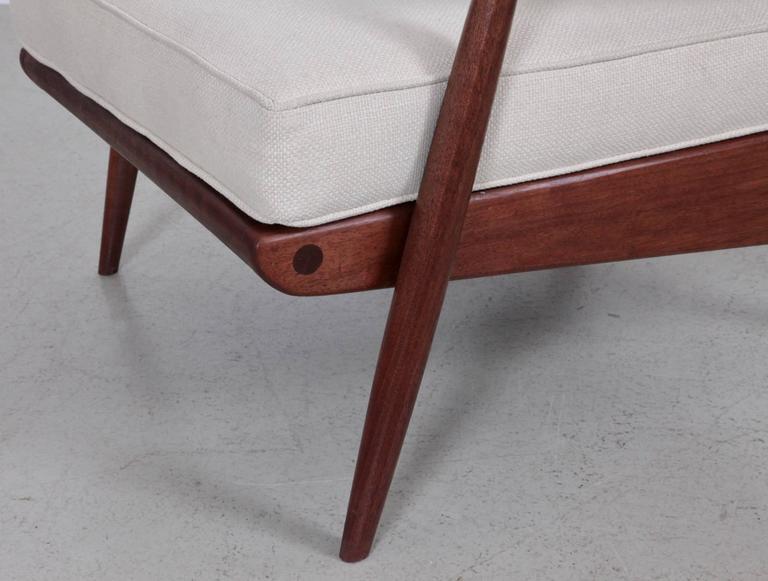 Fabric Phillip Lloyd Powell 'New Hope' Lounge Chair in Black Walnut